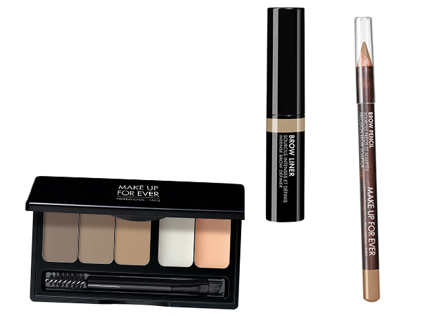 "Linha ""The Brow Show"" da Make Up For Ever: Brow Liner (R$ 115), Brow Pencil (R$ 99), Brow Gel (R$ 99) – Sephora.com.br"