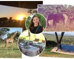 Nascer do sol, o passeio para ver de perto animais selvagens, como elefantes e girafas, almoço ao ar livre e a vista do hotel, no Quênia