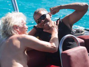 Extra! Vídeo mostra Barack Obama e Richard Branson praticando kitesurf