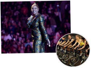 Grávida de gêmeos, Beyoncé continua se exercitando intensamente