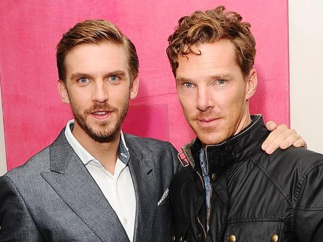 Dan com o amigo Benedict Cumberbatch