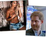 A modelo Sophie Taylor e o príncipe Harry