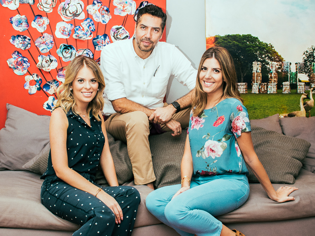 Jessica Natenzon Kattan, Liana Kattan Tawil e Marcelo Bacchin, criadores do bazar Get Ready For