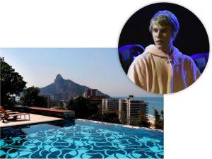 Justin Bieber e a mansão do Joá