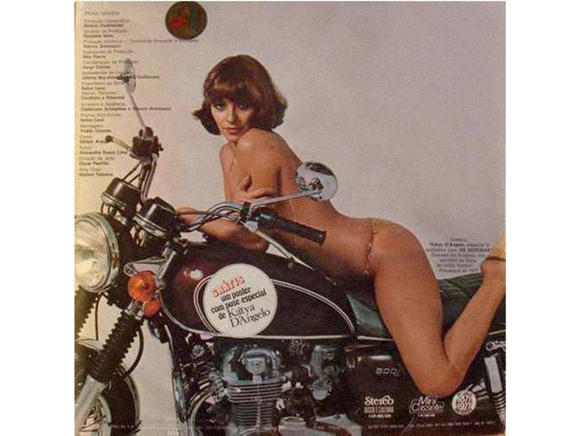 Sex symbol, Katia estampava revistas masculinas e capas de disco