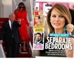 Melania e Trump e a capa da