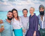 Sandro Kopf, Malu Barretto e Vik Muniz, Tilda Swinton e Waris Ahluwalia: turma animada nas Maldivas