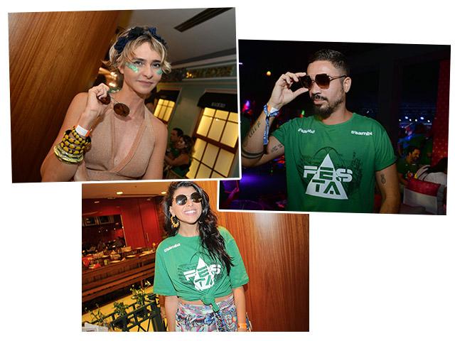 Glamurettes mostram suas escolhas de óculos para ver o sol raiar na Sapucaí