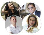 Em sentido horário: Roério Fasano, Alessandra Luglio, Alexandra Forbes e Charles Piriou, palestrantes da 1ª edição do Food Forum