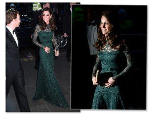Kate Middleton é criticada por cor de vestido usado em gala britânico