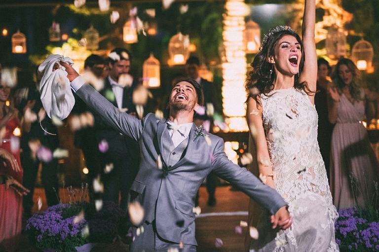 Junior Lima e Monica Benini durante o casamento em 2014