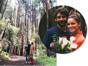 Renata Vanzetto e Cassiano Bonjardim: os dois disseram 'sim' nos Estados Unidos