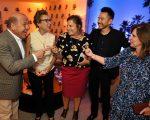 Joyce Pascowitch entre José Roberto Trinca, Teresa Perez, Todd Mitsuhara e Lucita Costa