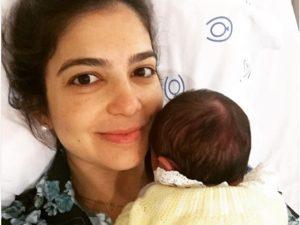 Luiza Zaidan dá à luz Manuela e faz docinho para distribuir na maternidade
