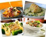 Em sentido horário, receitas dos restaurantes Pesce, Le Manjue, Rodeio e Micaela