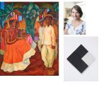"""""""Baile em Tehuantepec"""", de Diego Rivera; Cândida Sodré e """"Contra Relevo (objeto nº 7)"""" de Lygia Clarck"""