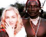 Madonna ao lado de índio em foto publicada na tarde desta sexta-feira pela artista