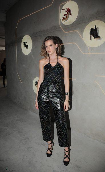 Johanna Birman de Chanel no lançamento do e-commerce da marca Alexandre Birman