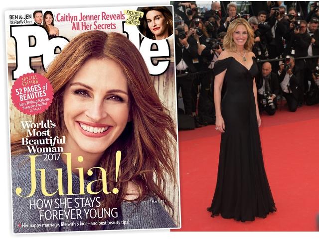 Julia Roberts é eleita a mulher mais bonita do mundo pela