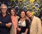 Lauro Cavalcanti, Toia Lemann, Beatriz Milhazes e Carlos Contente