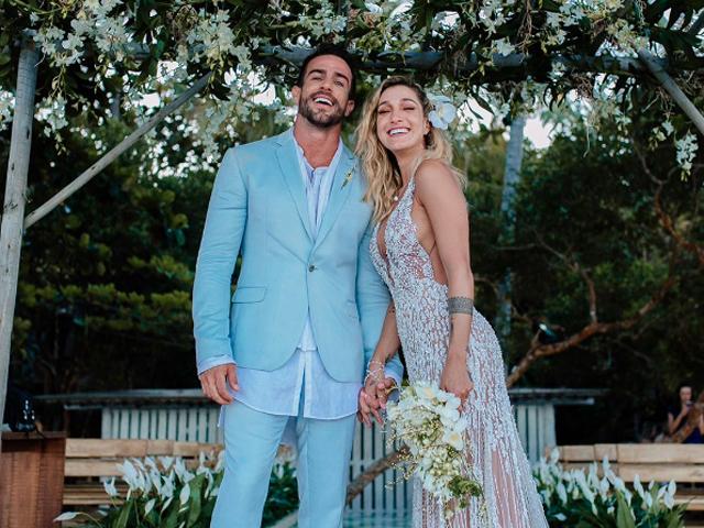 """Gabriela Pugliesi e Erasmo Vianna disseram """"sim!""""    Créditos: Reprodução"""