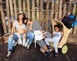Família Casé em frente ao Castelo da Cinderela, na Disney!
