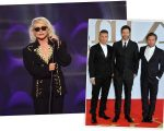 Debbie Harry, da Blondie, e os membros do Take That