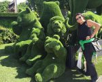 Fernanda Aguiar busca inspiração no show de arte floral Chelsea in Bloom, na Inglaterra