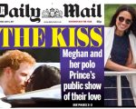 O selinho de Harry e Meghan, na capa do