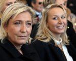 Marine Le Pen ao lado da sobrinha, Marion Maréchal-Le Pen