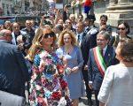 Melania Trump em Catânia, na Itália