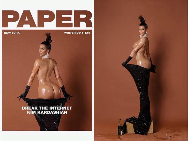 "Kim Kardashian na capa da ""Paper"""