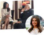 Priyanka no encontro com Narendra Modi