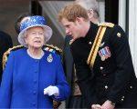 A rainha Elizabeth II e o príncipe Harry