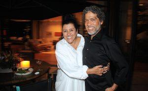 Regina Casé e Estevão Ciavatta ganharam jantar no Jardim Guedala