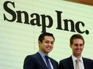 Fundadores do Snapchat perdem bilhões depois de divulgação de balanço
