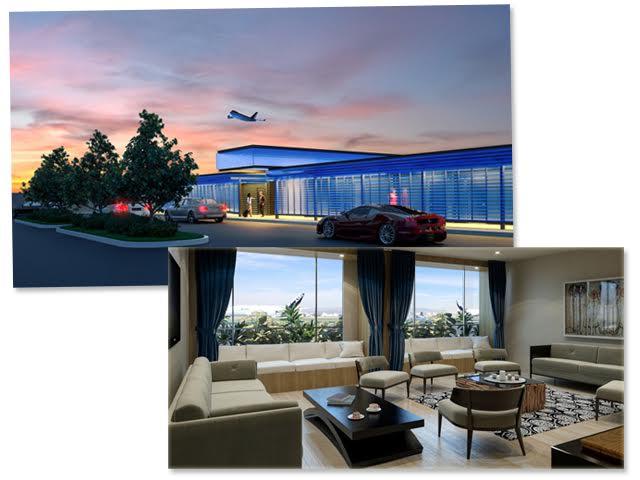 Detalhe do The Private Suite, novo anexo do aeroporto internacional de Los Angeles || Créditos: Divulgação