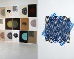 """Detalhes das obras """"Japanese OP + Geo Art"""" e """"Hey Luz em Cada Ventana"""", de Felipe Mujica"""