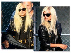Penélope Cruz surge platinada para viver Donatella Versace na TV