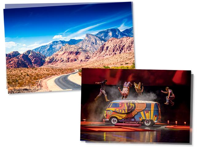 """Red Rock Canyon é incrível. As montanhas vermelhas serviram como inspiração para eu e Rick criarmos a sobremesa do cardápio.""""Programas imperdíveis em Las Vegas: espetáculo do Cirque du Soleil e visita ao Red Rock Canyon"""