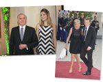 Michel e Marcela Temer, e Emmanuel e Brigitte Macron