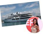 O iate Chackra, de 282 pés, foi o cenário da festa 'para poucos' de Naomi Campbell em Cannes