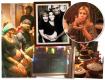 Benedita Casé e João Pedro Januário vendados durante brincadeira, o casal com Felipe Veloso, Carolina Dieckmann aproveitando as comidinhas de festa junina, o quadro com a votação para o nome do bebê e a mesa do bolo