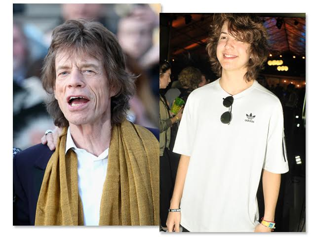 Mick e Lucas Jagger