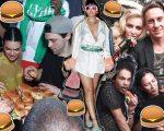 Kendall Jenner, Rihanna, Madonna com Jeremy Scott e o estilista Alexander Wang