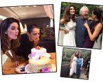 Isabella Fiorentino e Fernanda Motta em aniversário duplo. Aqui as duas posam com Mauro Freire e Isabella ao lado da irmã, Carol Fiorentino