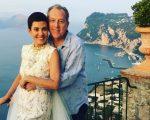 Os noivos Cristina Cogula e Frederic Cassin