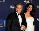 George Clooney com a mulher, Amal Clooney