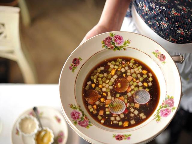 Um dos pratos servidos no Marivanna
