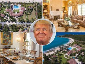 Trump e sua mansão em St. Martin